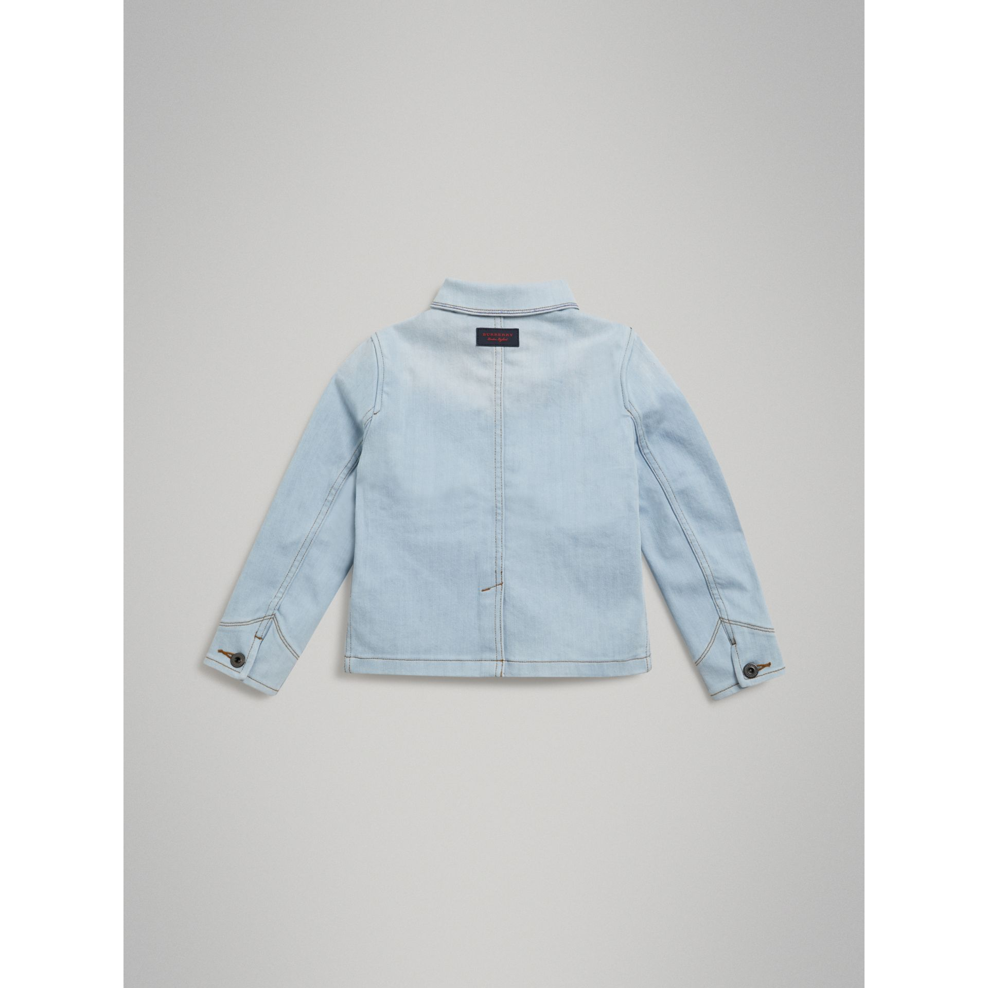 Marker Pen Print Denim Jacket in Light Blue - Girl | Burberry - gallery image 3
