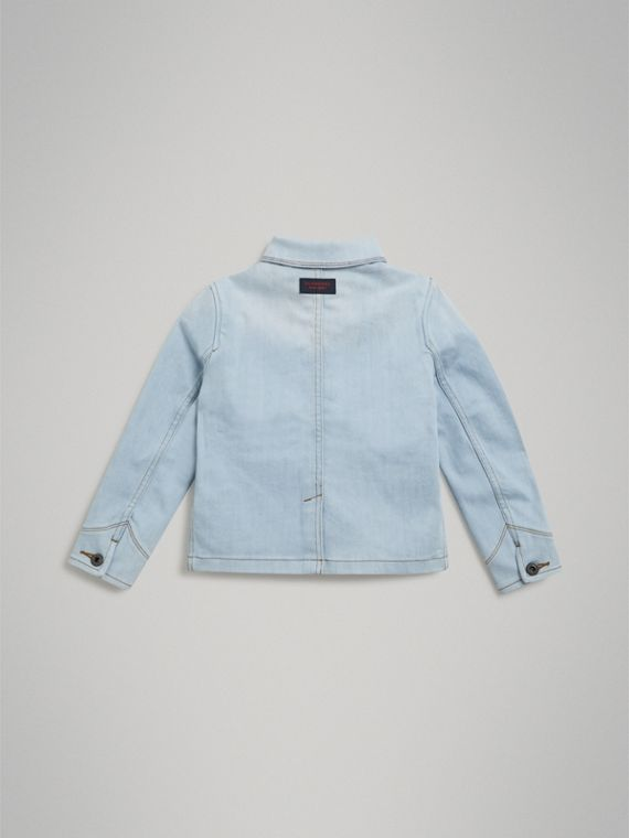 Marker Pen Print Denim Jacket in Light Blue - Girl | Burberry - cell image 3