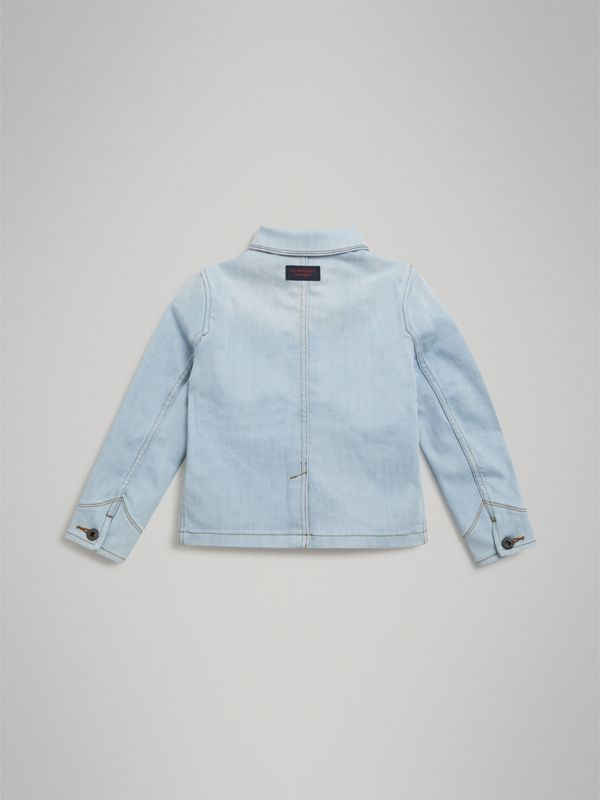 Marker Pen Print Denim Jacket in Light Blue | Burberry - cell image 3