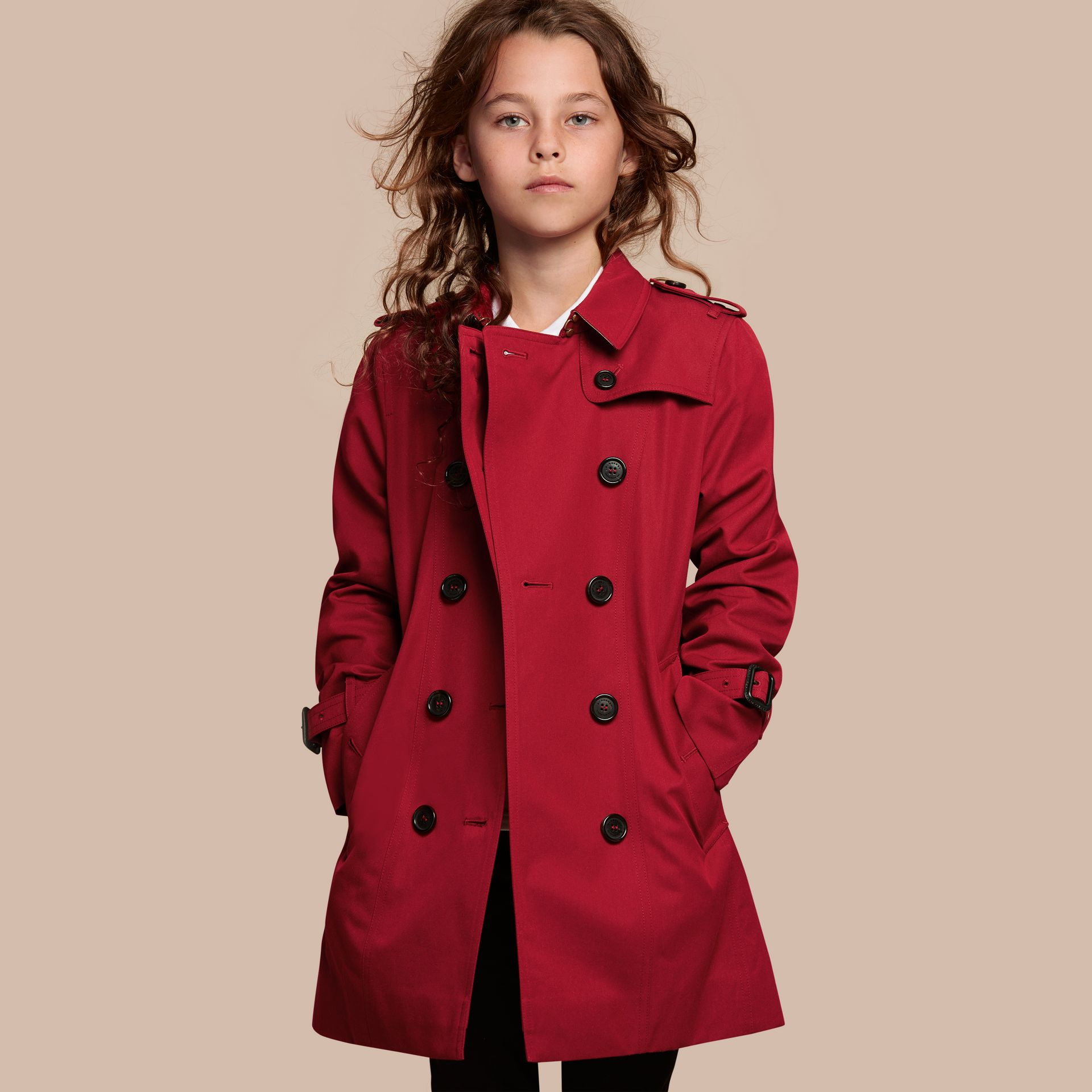 The Sandringham – Heritage Trench Coat in Parade Red - Girl | Burberry - gallery image 1