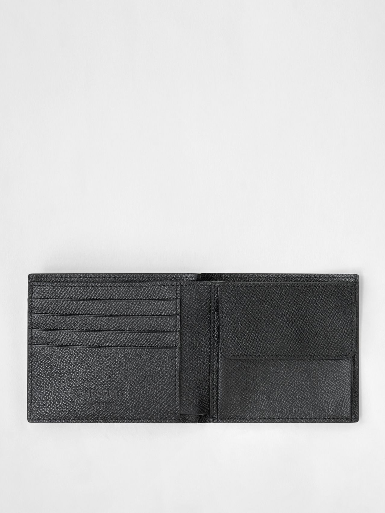 Grainy Leather International Bifold Coin Wallet (Black)