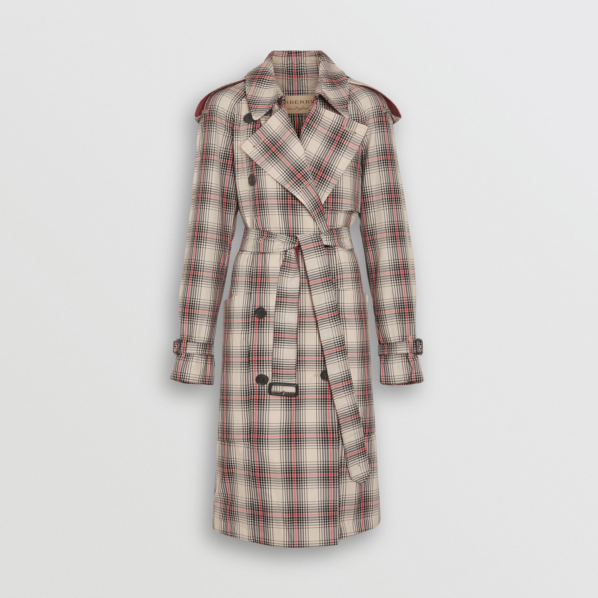 Lightweight Check Trench Coat in Light Nude - Women | Burberry - gallery image 3