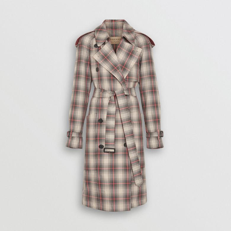 Burberry - Leichter Trenchcoat mit Karomuster - 4