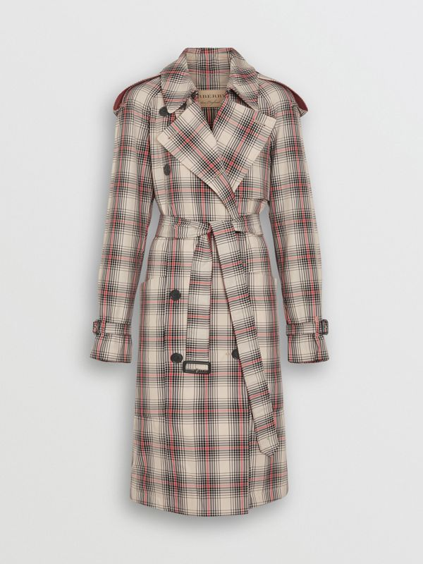Lightweight Check Trench Coat in Light Nude - Women | Burberry - cell image 3