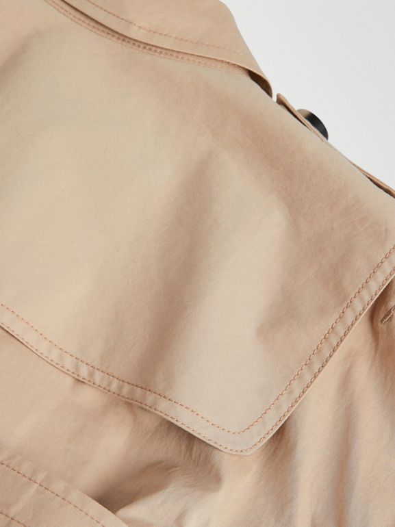 Stretch Cotton Trench Dress in Honey | Burberry Singapore - cell image 1
