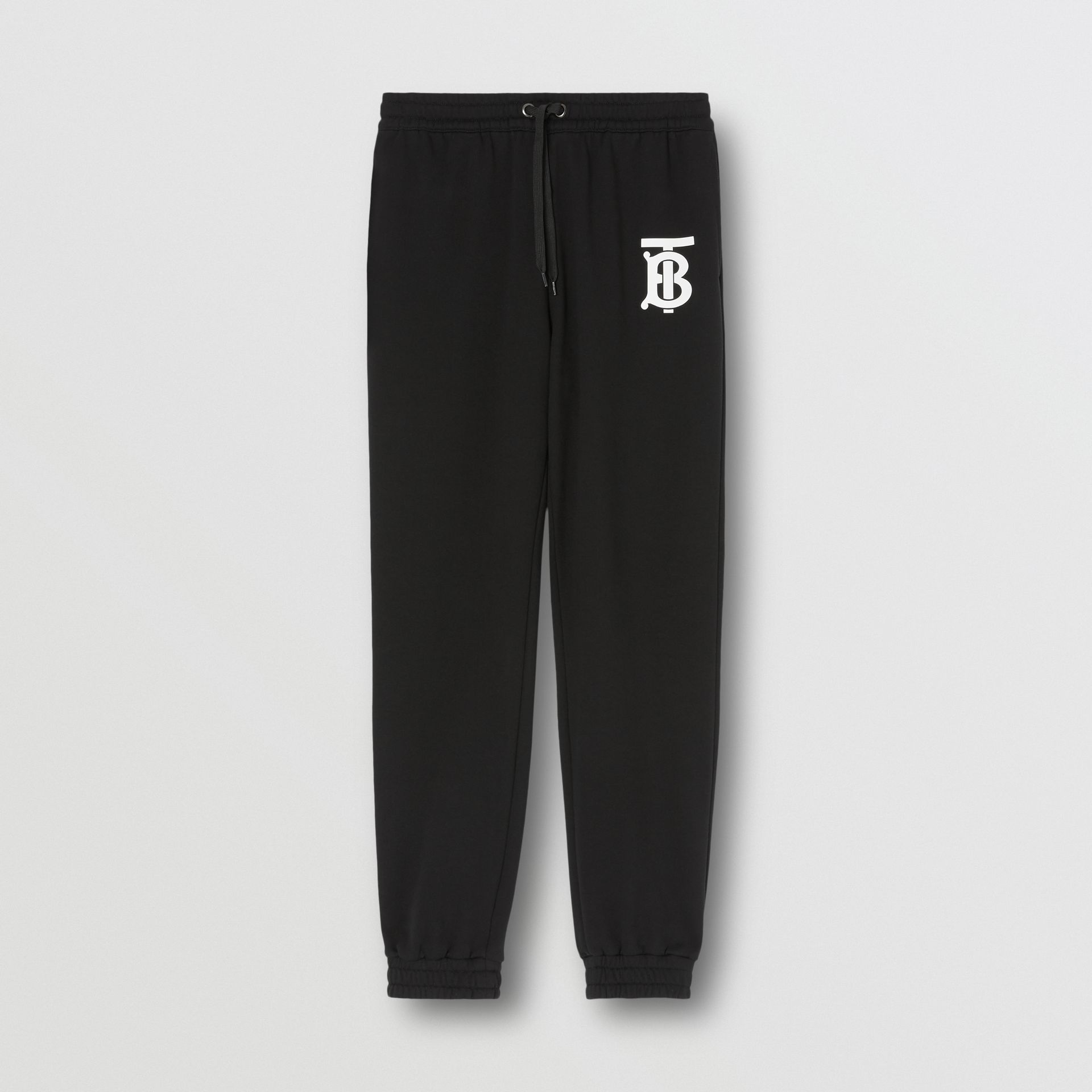 Monogram Motif Cotton Trackpants in Black - Men | Burberry - gallery image 3