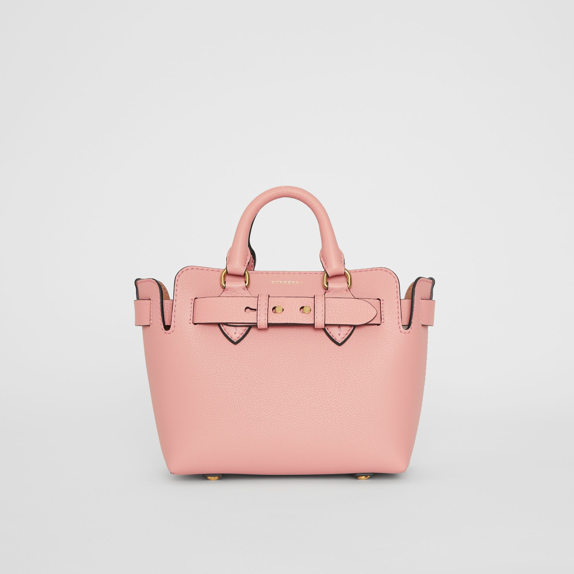The Mini Leather Belt Bag in Ash Rose - Women | Burberry Singapore - gallery image 0