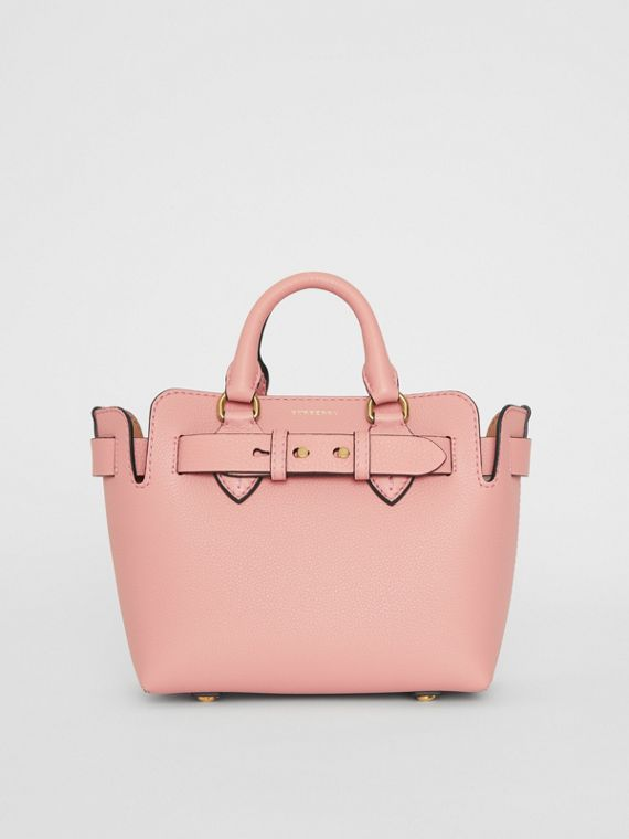 Mini sac The Belt en cuir (Rose Platiné)