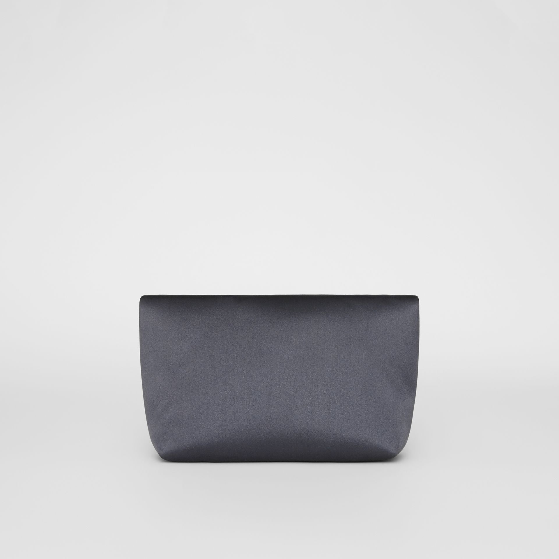 The Small Pin Clutch in Satin in Grey Blue - Women | Burberry United Kingdom - gallery image 5