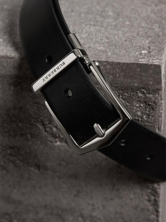雙面兩用 London 皮革皮帶 (黑色) - 男款 | Burberry - cell image 1