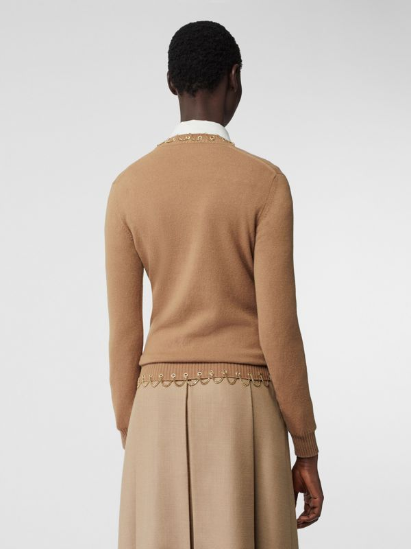Chain Detail Cashmere Sweater in Camel - Women | Burberry - cell image 2