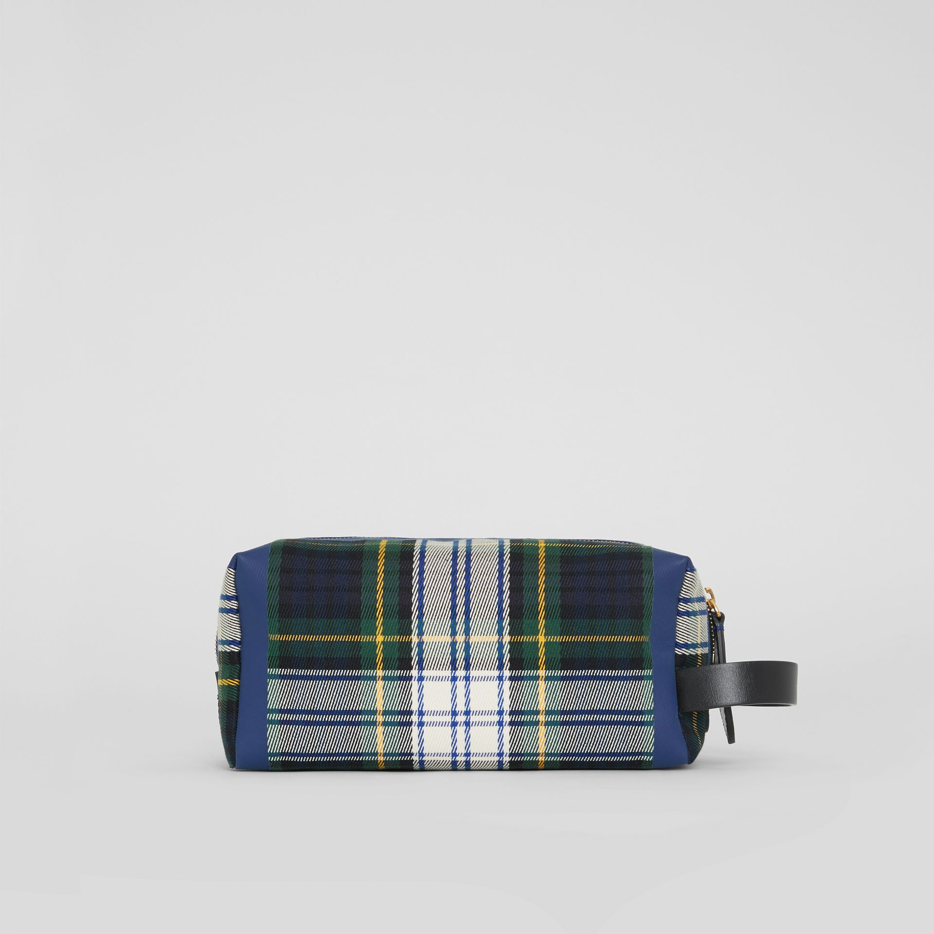 Tartan Cotton Pouch in Limestone | Burberry - gallery image 8