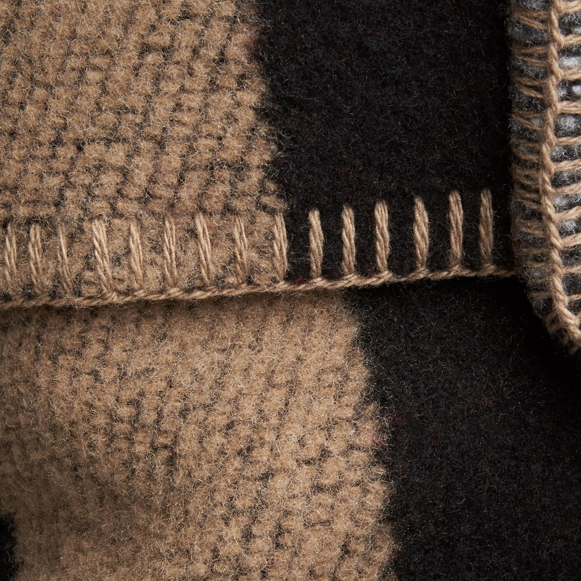 House check/black Check Wool Cashmere Cushion Cover House Check/black - gallery image 2