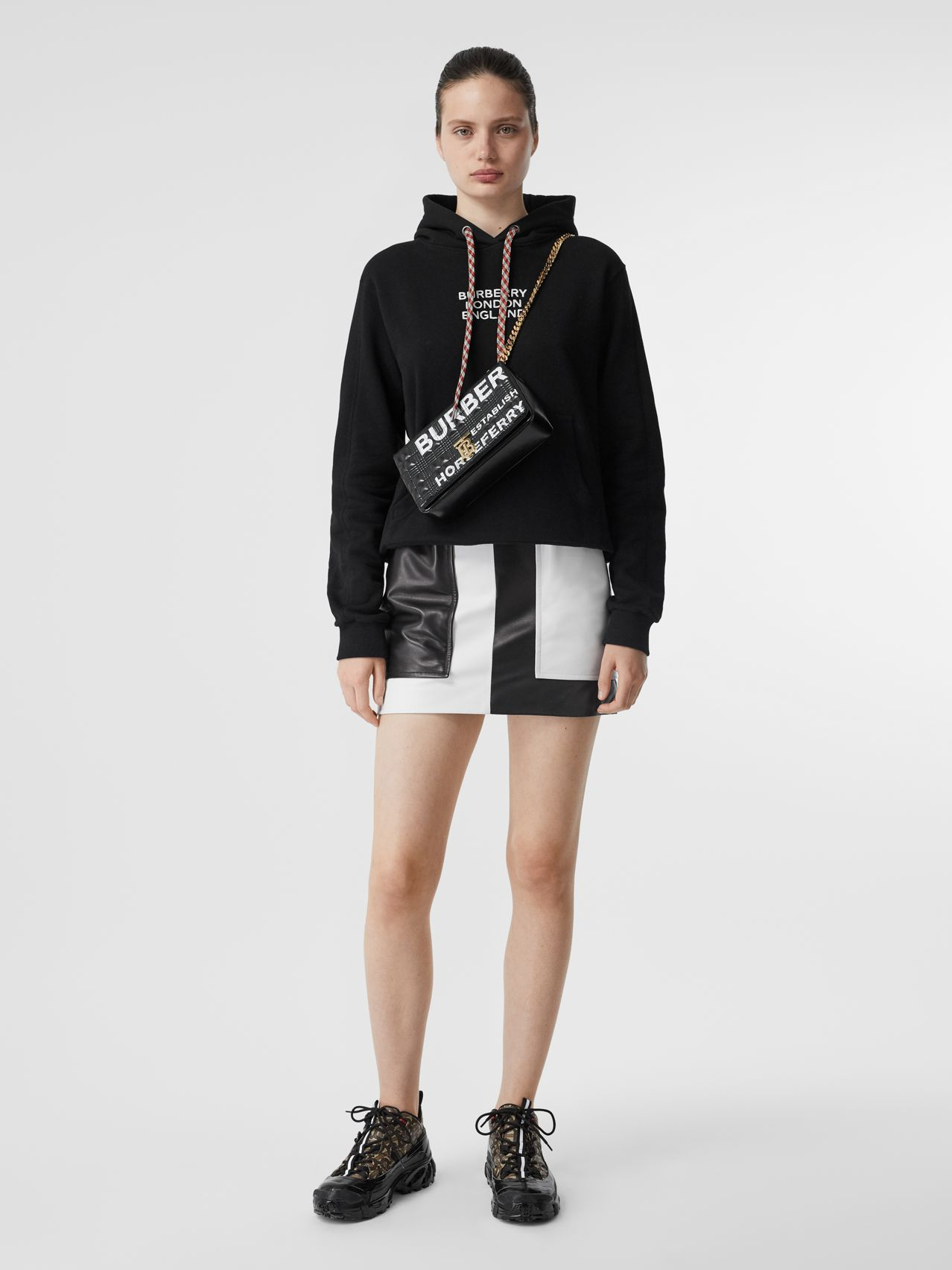 Embroidered Logo Cotton Oversized Hoodie by Burberry, available on burberry.com for $290 Kendall Jenner Top SIMILAR PRODUCT
