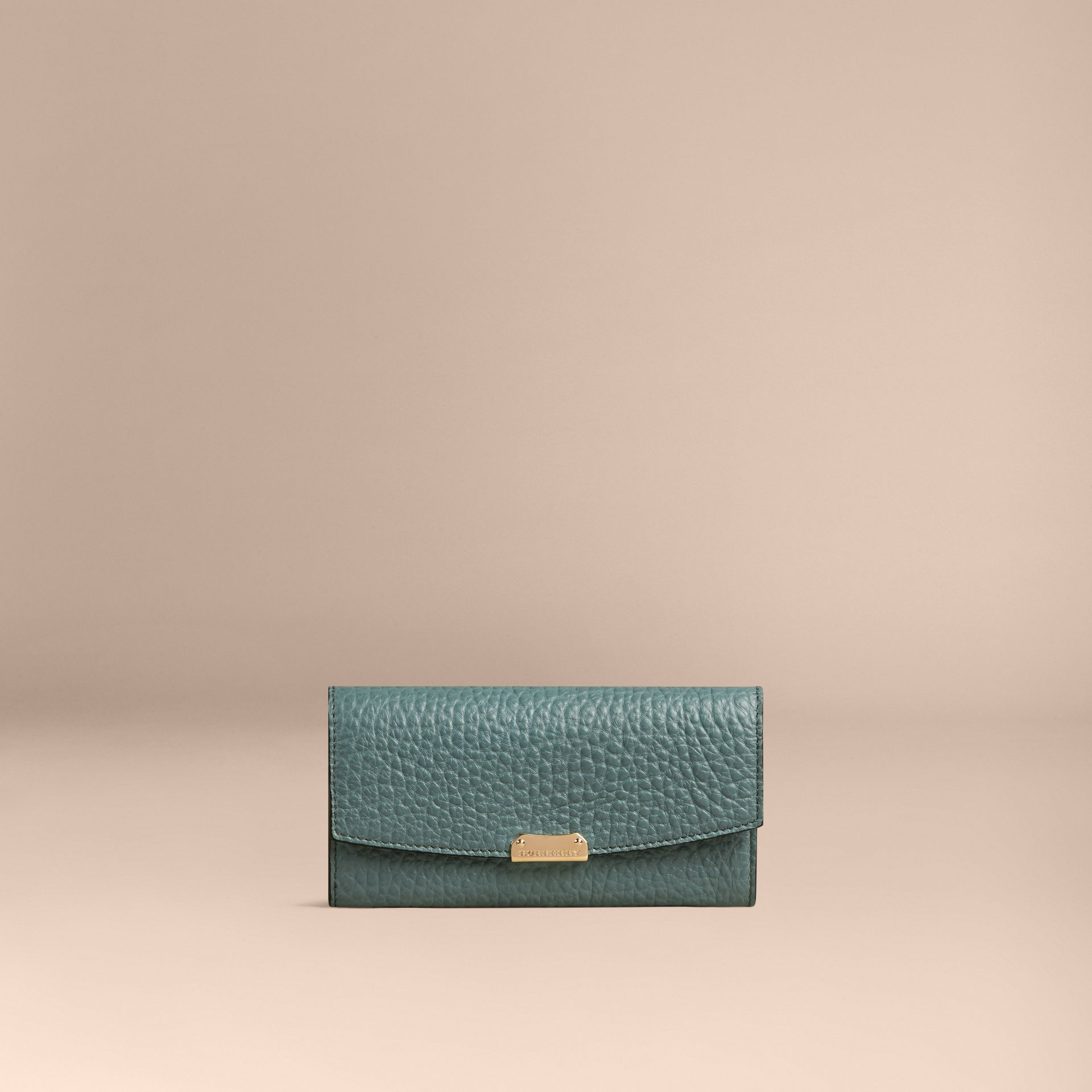 Celadon blue Signature Grain Leather Continental Wallet Celadon Blue - gallery image 4