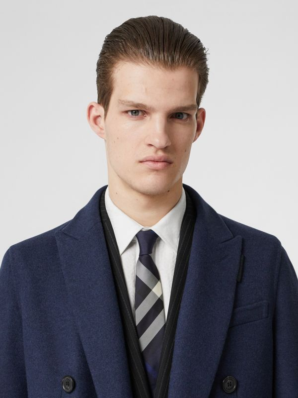 Classic Cut Check Silk Tie in Navy - Men | Burberry - cell image 2