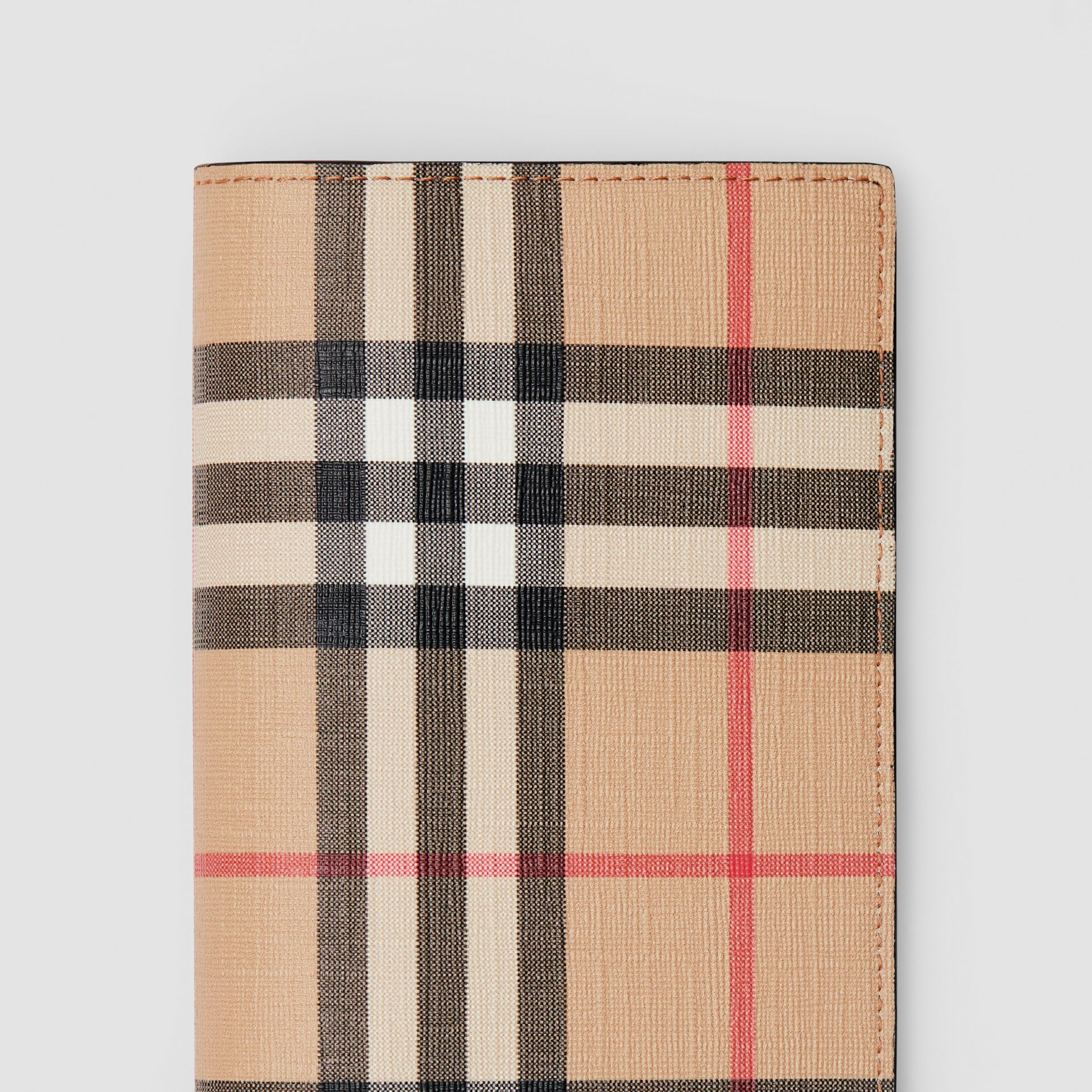 Vintage Check E-canvas Continental Wallet in Archive Beige - Men | Burberry - gallery image 1