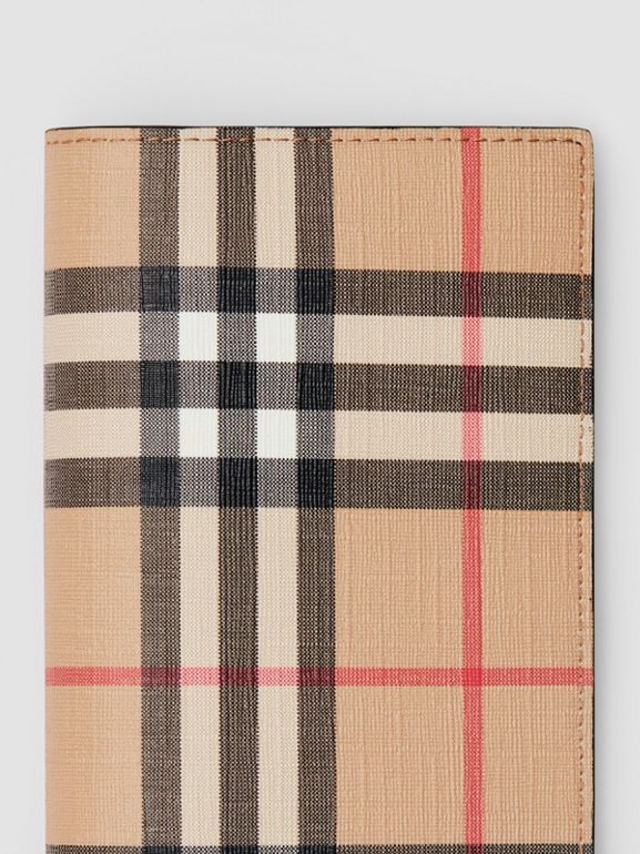 Vintage Check E-canvas Continental Wallet in Archive Beige - Men | Burberry - cell image 1