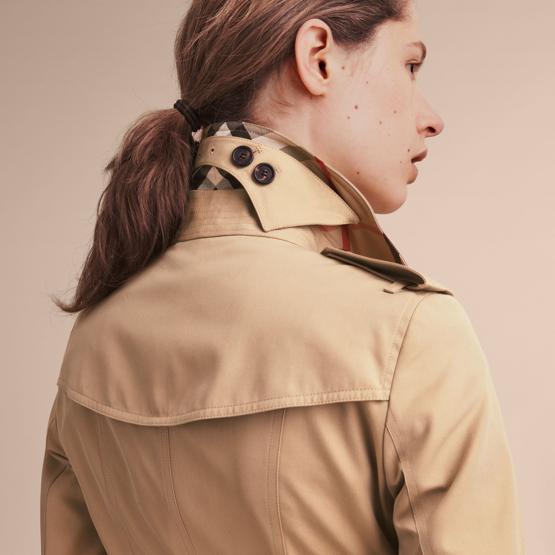 Honey The Sandringham – Mid-Length Heritage Trench Coat Honey - gallery image 7