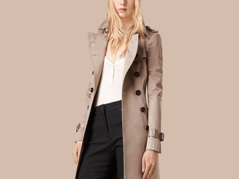 Trench Cotton Sateen Trench Coat  - cell image 4