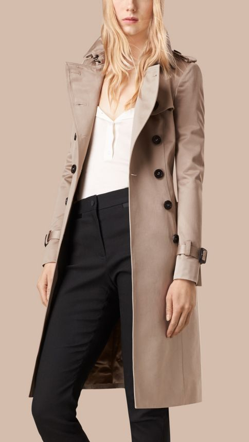 Trench Cotton Sateen Trench Coat  - Image 5