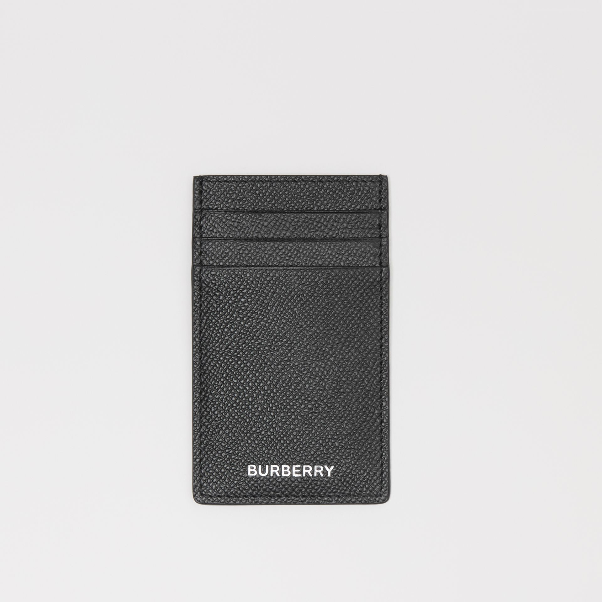 Grainy Leather Card Case in Black - Men | Burberry - gallery image 0