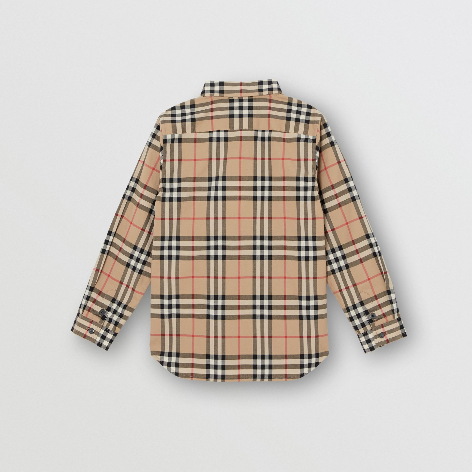 Vintage Check Cotton Poplin Shirt in Archive Beige - Boy | Burberry - gallery image 3