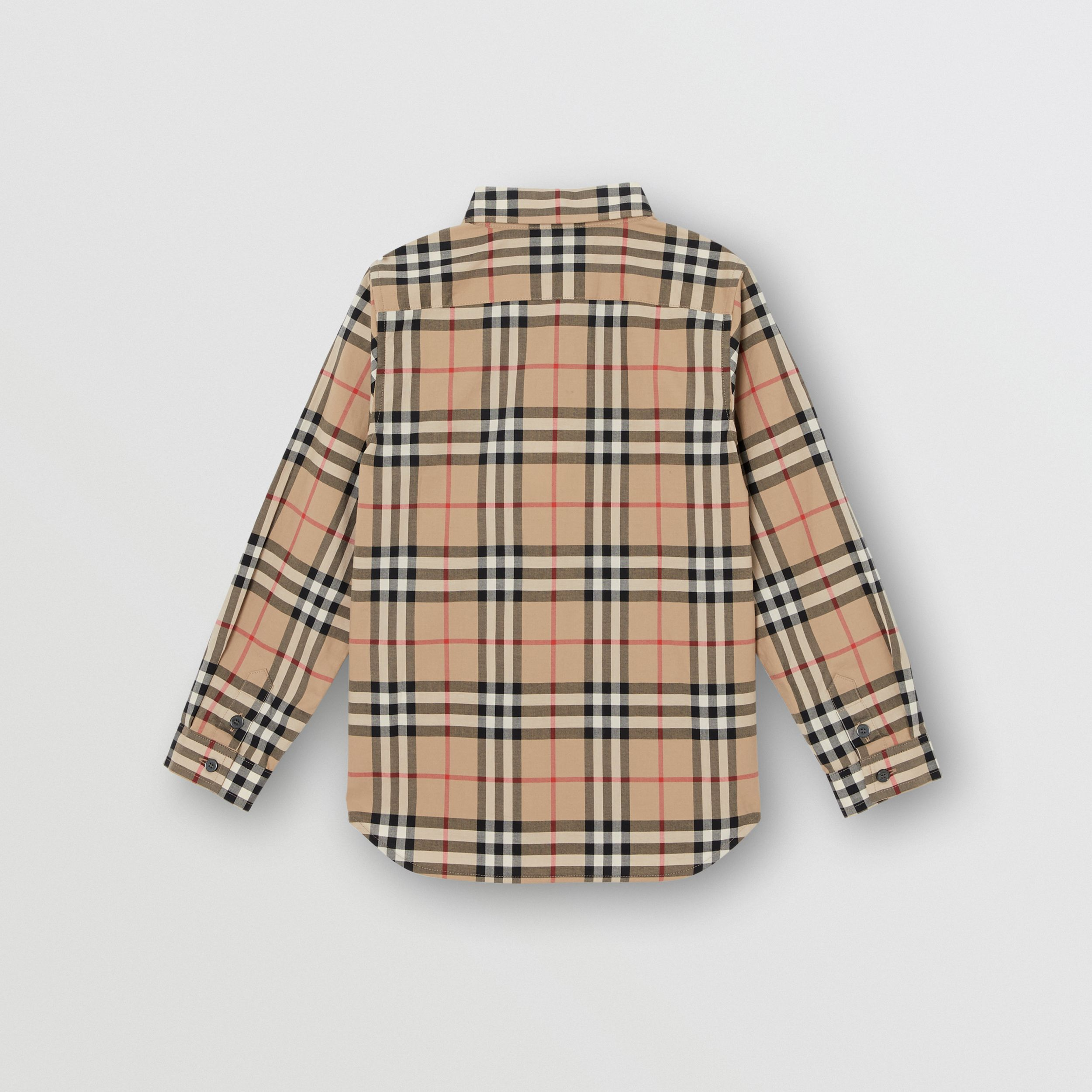 Vintage Check Cotton Poplin Shirt in Archive Beige | Burberry Australia - 3