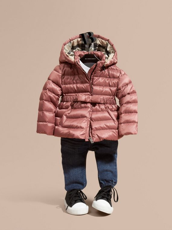 Bow Detail Down-filled Puffer Jacket