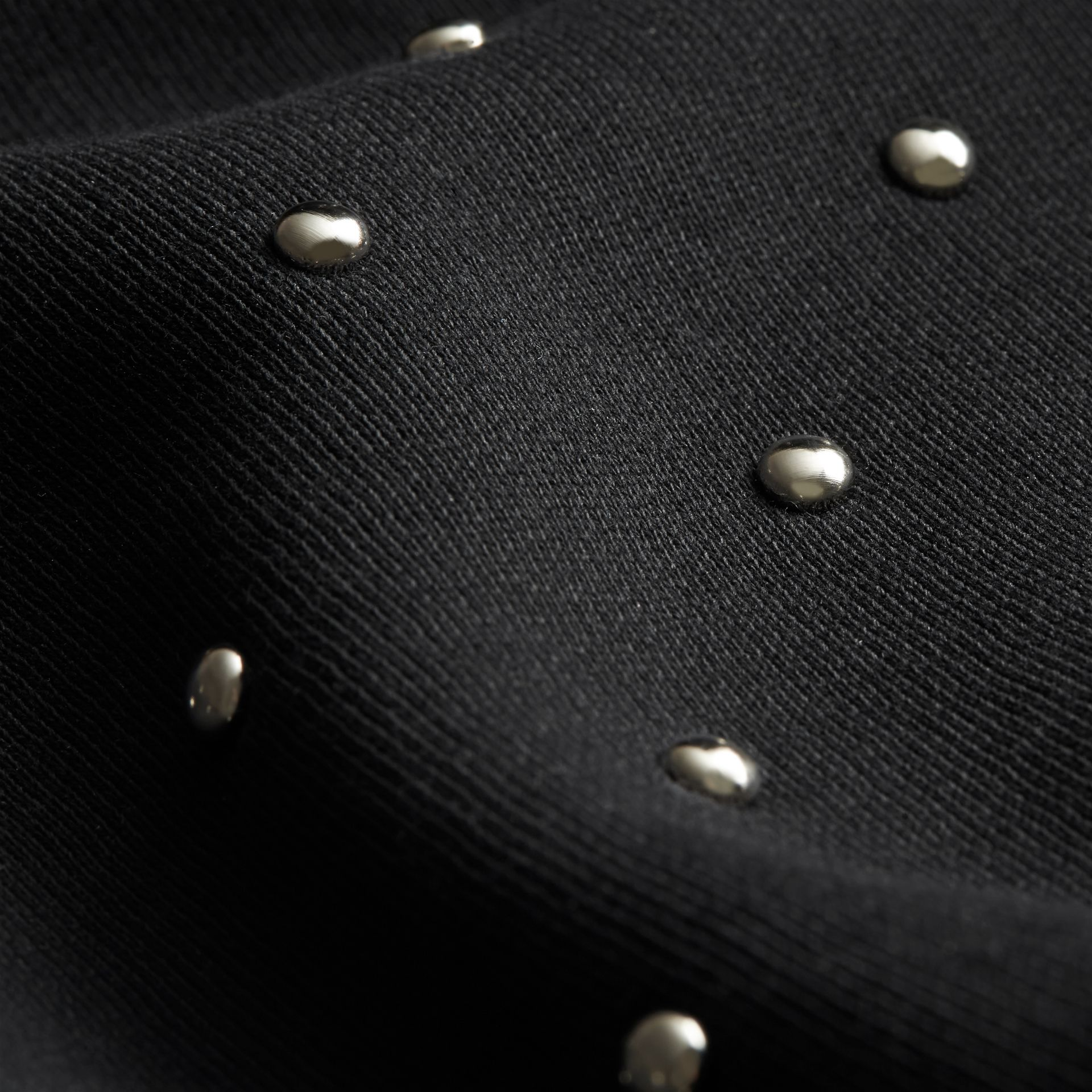 Black Riveted Jersey Sweatshirt - gallery image 2