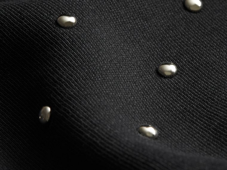 Noir Sweat-shirt en jersey à rivets - cell image 1
