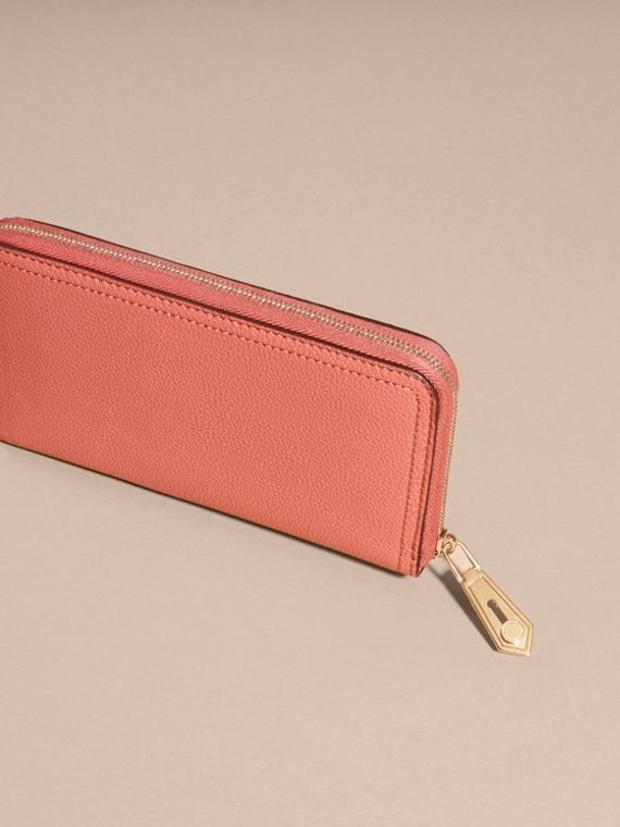 Copper pink Grainy Leather Ziparound Wallet Copper Pink - cell image 3