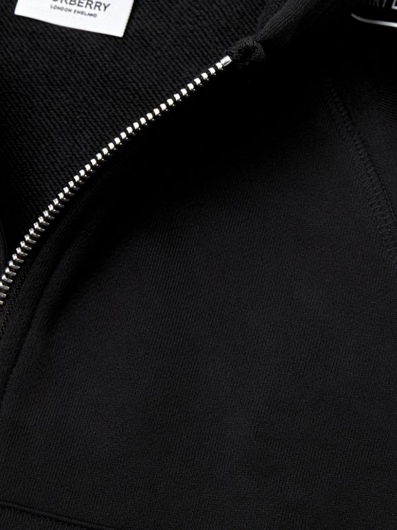 Logo Tape Cotton Hooded Top in Black - Children | Burberry - cell image 1