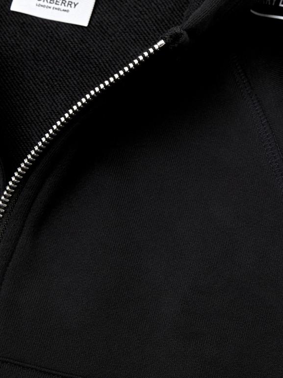 Logo Tape Cotton Hooded Top in Black - Children | Burberry Australia - cell image 1