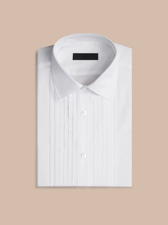 Optic white Slim Fit Cotton Dress Shirt - cell image 3