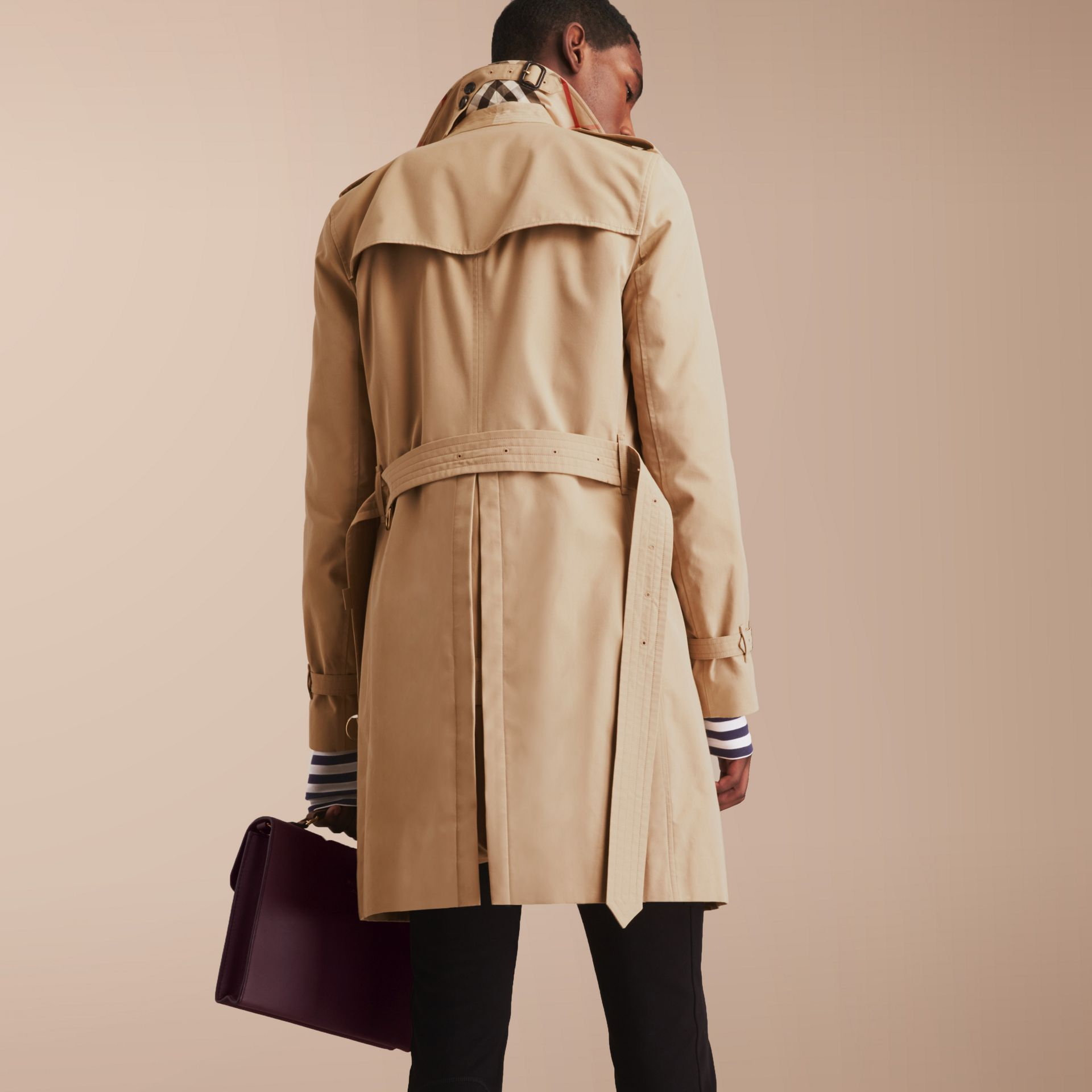 The Sandringham – Long Heritage Trench Coat in Honey - gallery image 3
