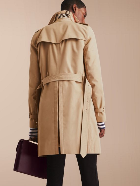 The Sandringham – Long Heritage Trench Coat in Honey - cell image 2