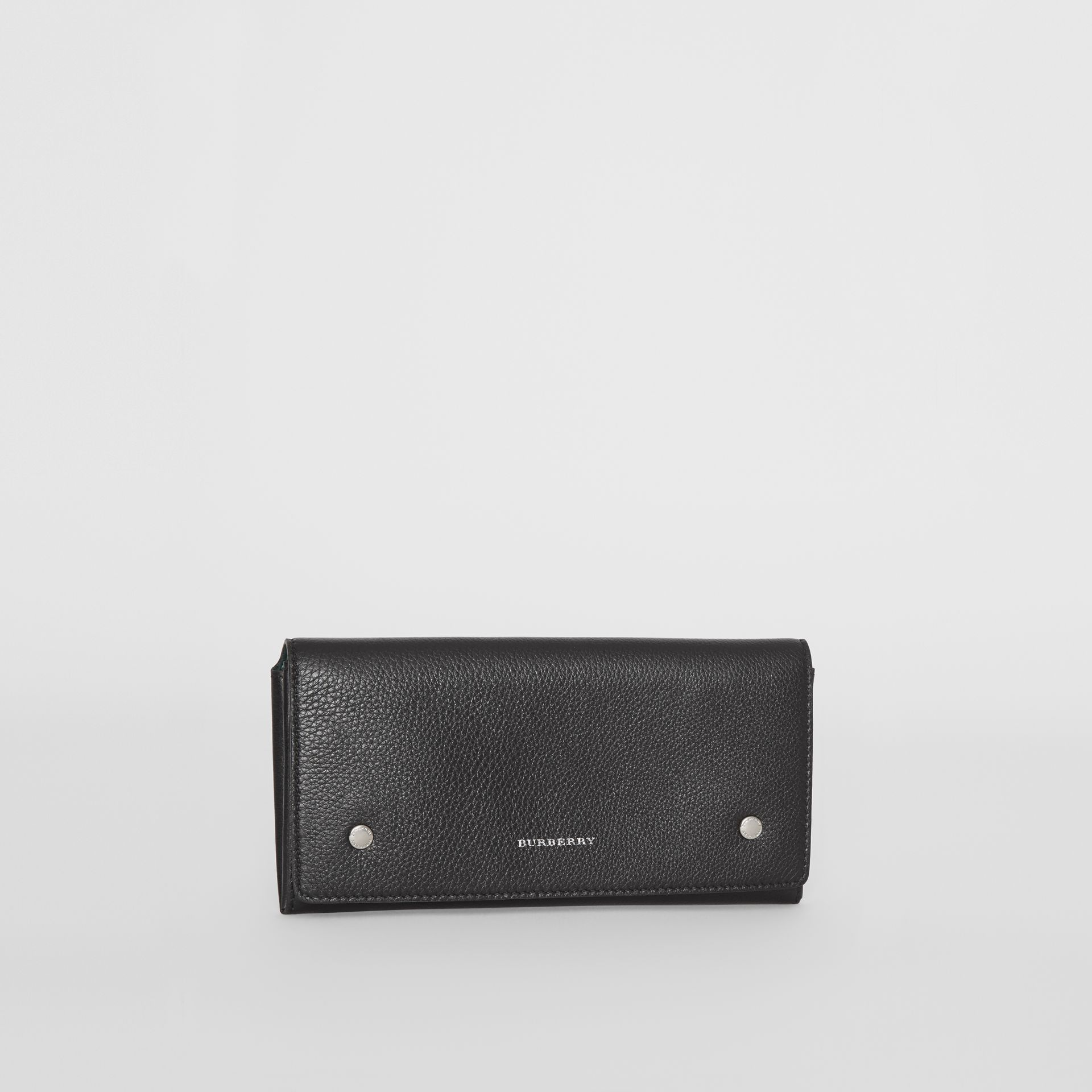 Two-tone Leather Continental Wallet in Black - Women | Burberry - gallery image 5