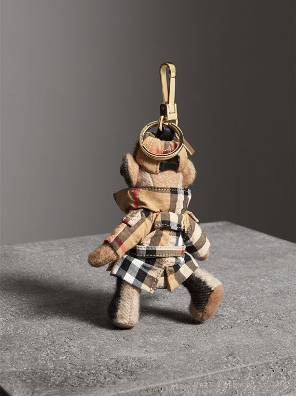 Ciondolo orsetto Thomas con trench coat in Vintage check (Cammello) | Burberry - cell image 1