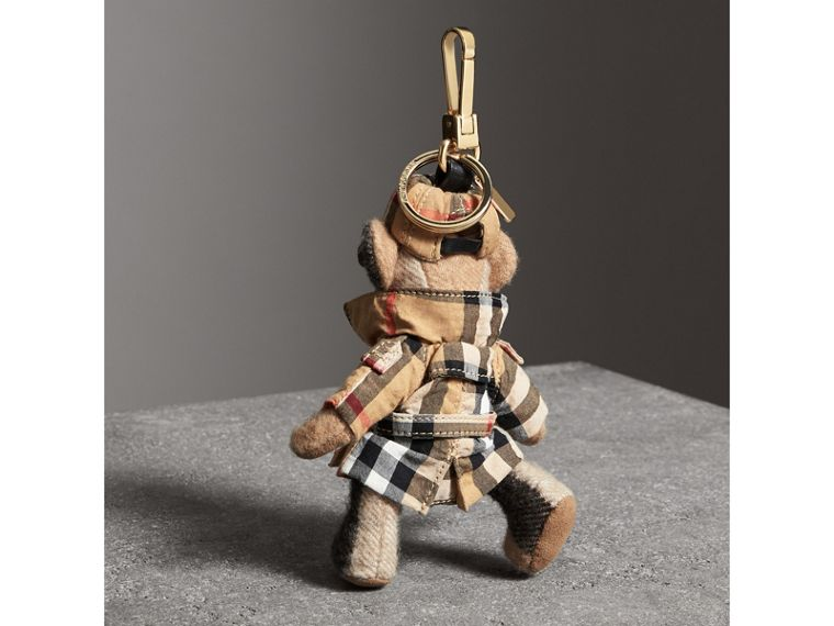Thomas Bear Charm in Vintage Check Trench Coat in Camel | Burberry Canada - cell image 1