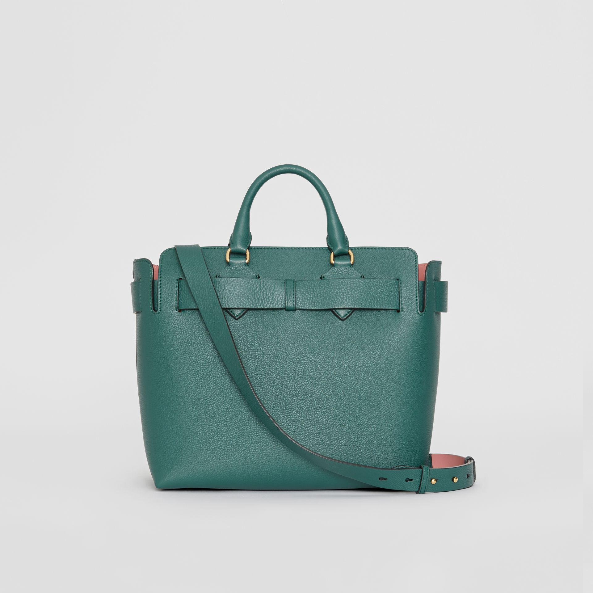 The Medium Leather Belt Bag in Dark Cyan - Women | Burberry United Kingdom - gallery image 7