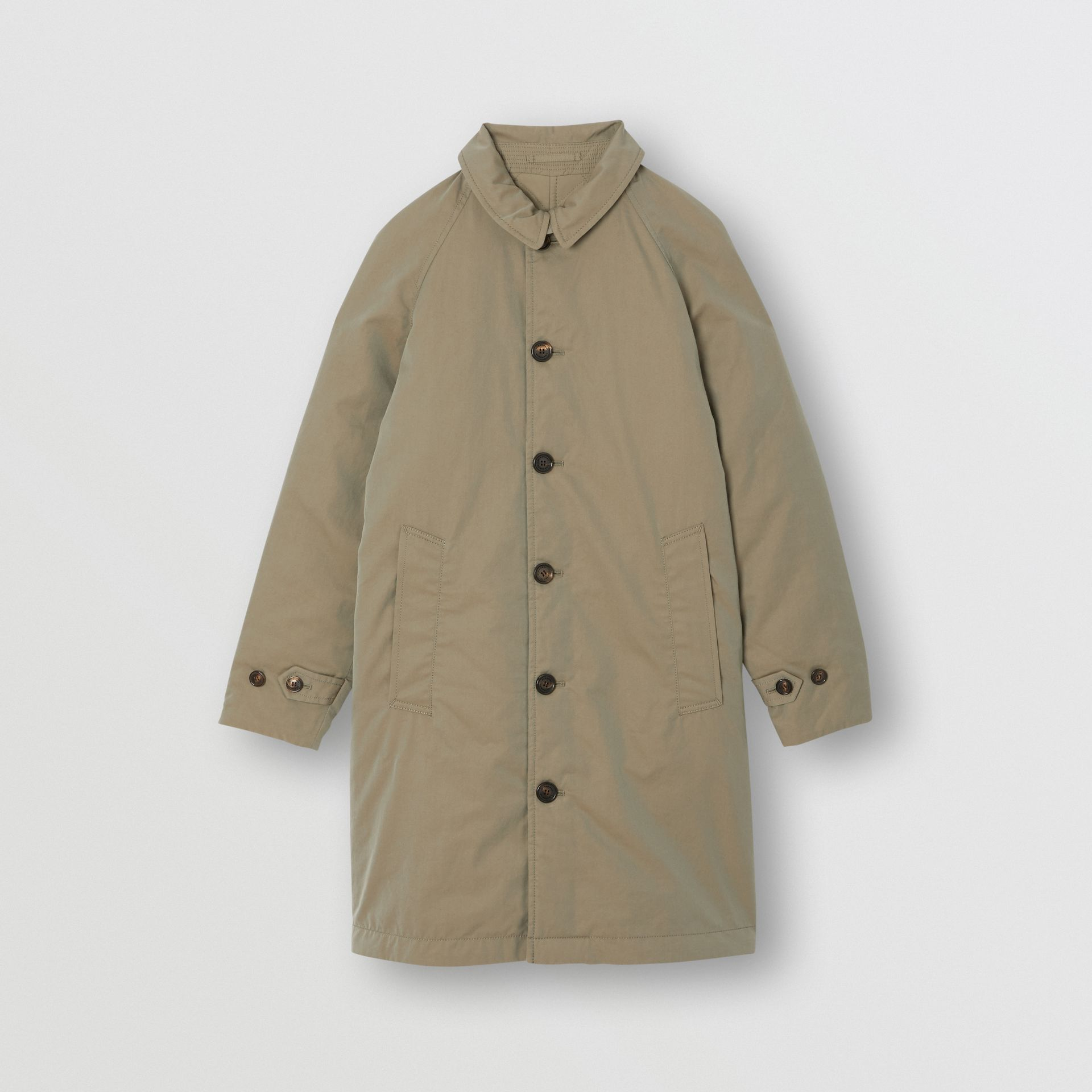 Reversible Tropical Gabardine Car Coat in Chalk Green | Burberry - gallery image 0