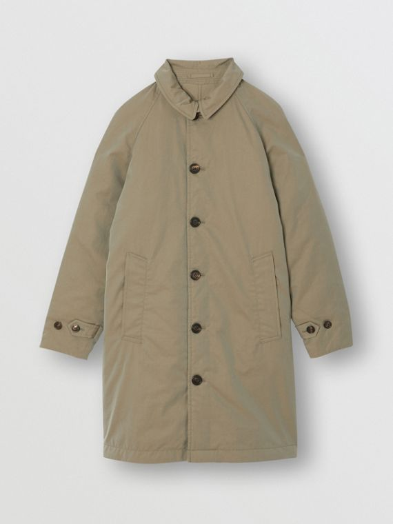 Car coat reversibile in gabardine tropicale (Verde Gesso)