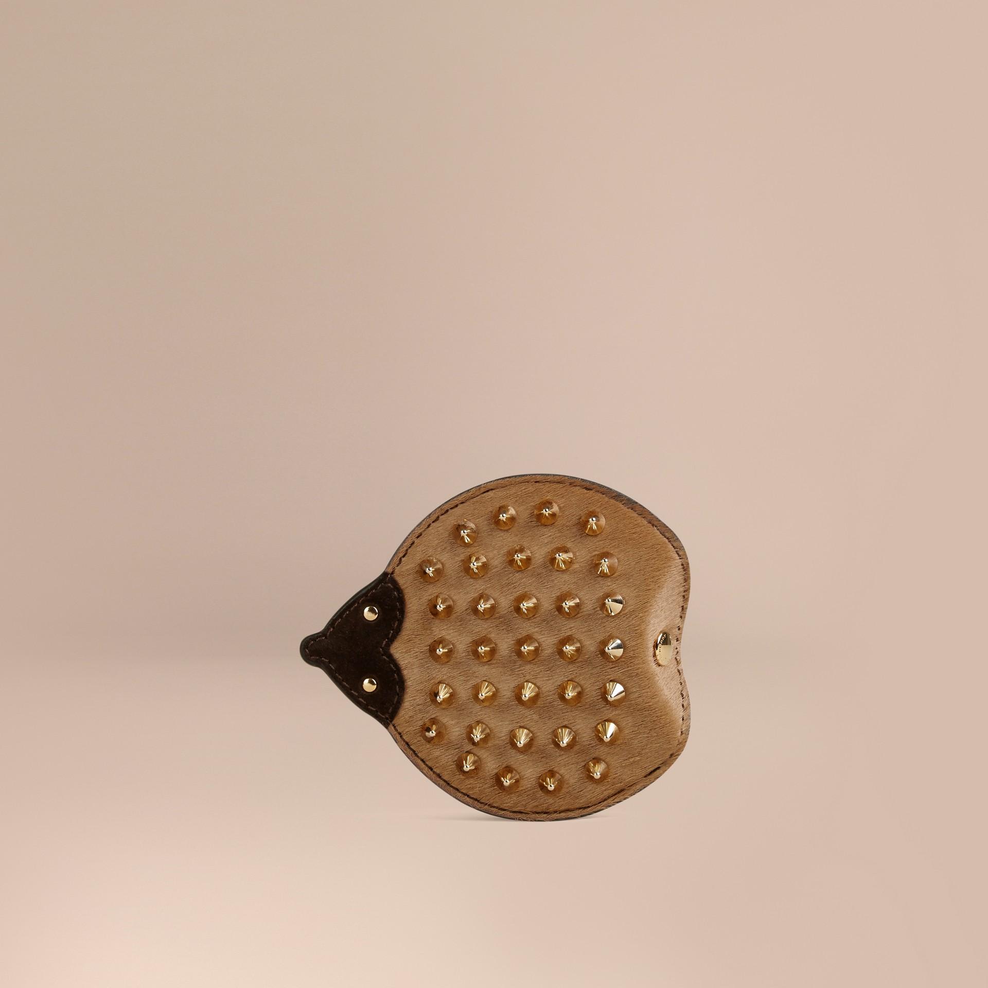 Cioccolato Portamonete riccio in pelle e cavallino - immagine della galleria 1