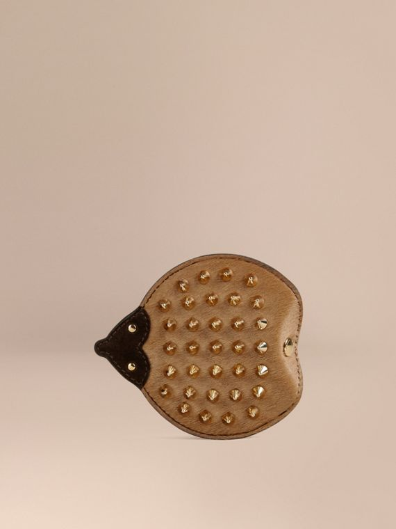 Hedgehog Leather and Calfskin Coin Case