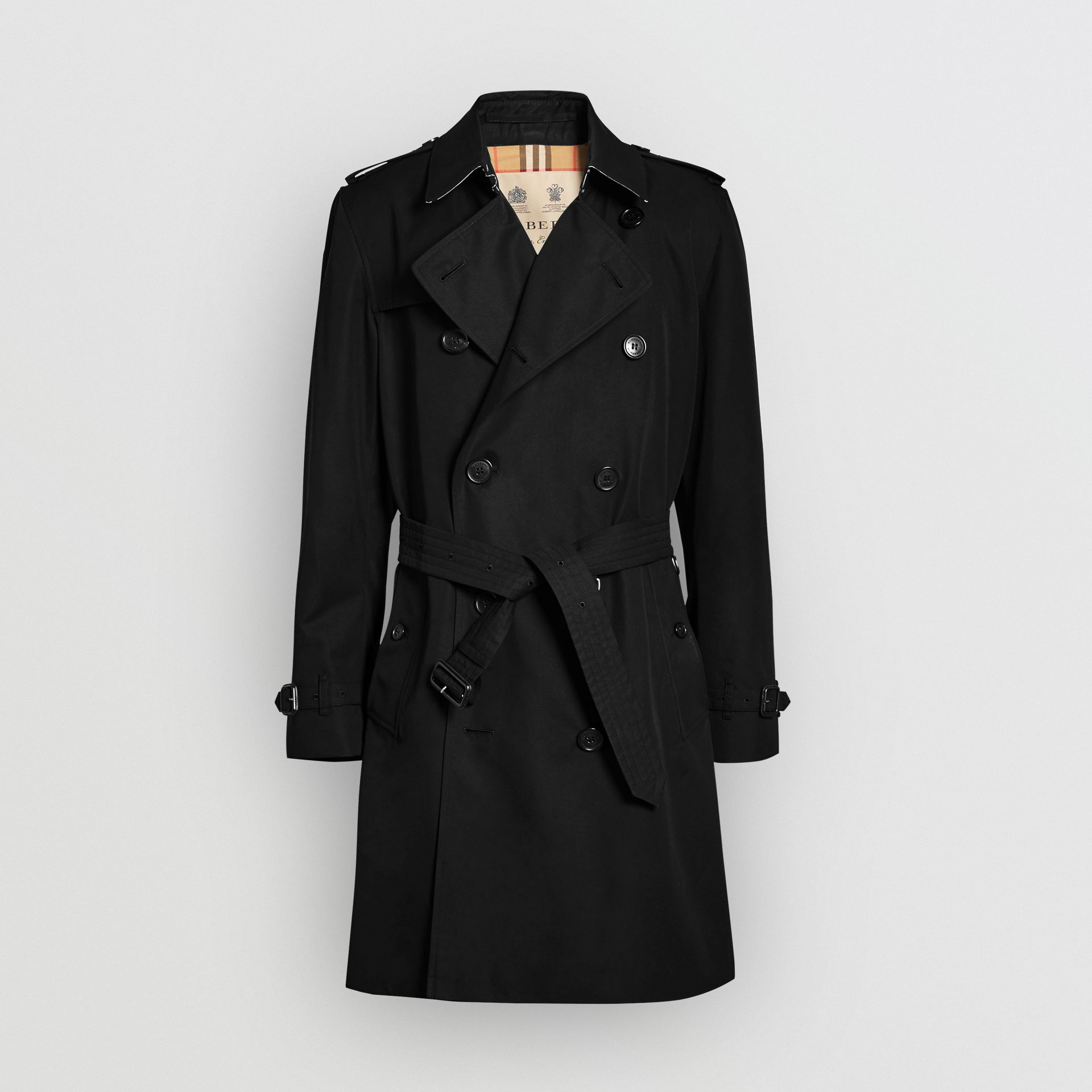 The Kensington Heritage Trench Coat in Black | Burberry - gallery image 3