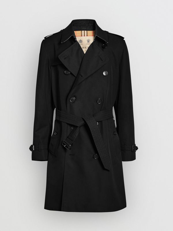 The Kensington Heritage Trench Coat in Black | Burberry United Kingdom - cell image 3