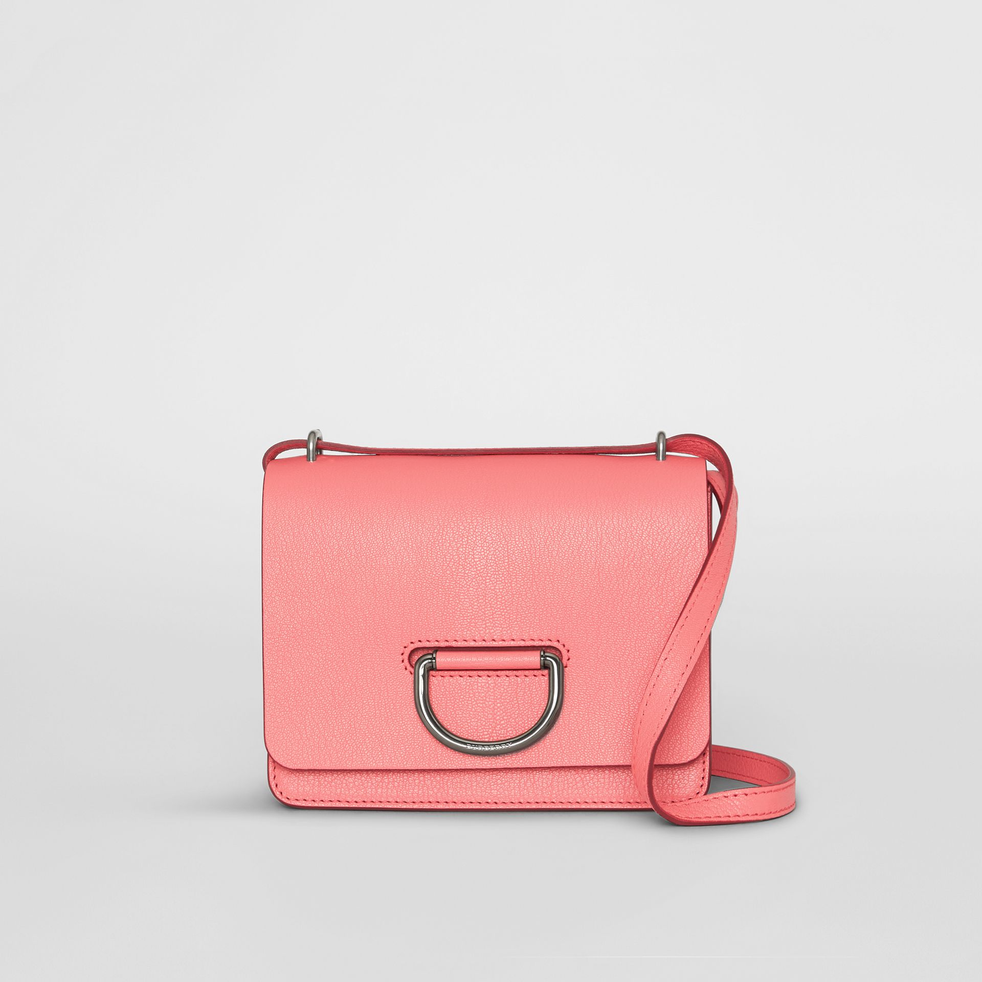 The Small Leather D-ring Bag in Bright Coral Pink - Women | Burberry - gallery image 0