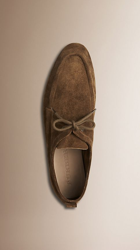 Brown Crepe Sole Suede Shoes - Image 3