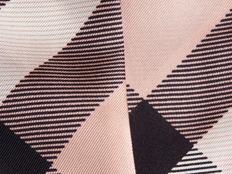 Rosa cenere Sciarpa sottile in seta con stampa con motivo check Rosa Cenere - cell image 1